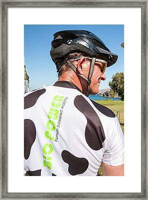 Human Powered Cycling Top Framed Print by Ashley Cooper