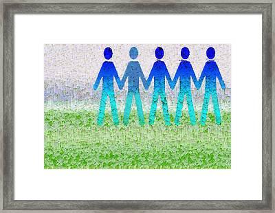 Human Race 1 Framed Print
