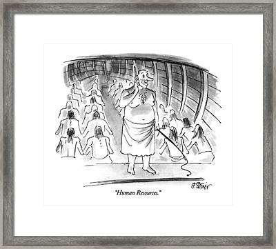 Human Resources Framed Print by Peter Steine