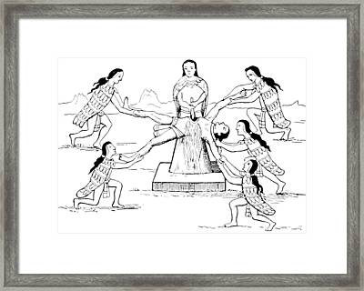 Human Sacrifice, Pre-columbian Framed Print by British Library