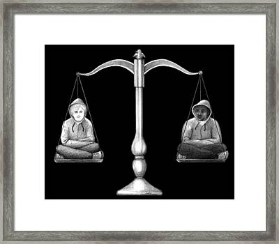 Humanity Scale Framed Print
