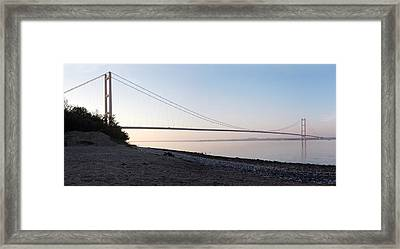 Humber Bridge Panorama Framed Print