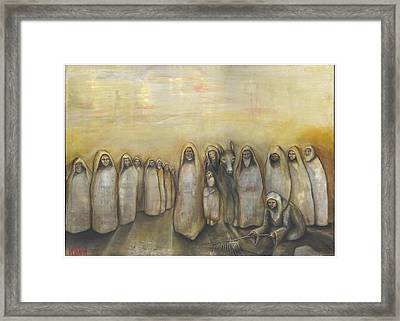 'humble Procession Of The King' Framed Print