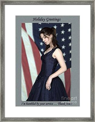 Humbled American - Our Freedom Isn't Free   Photo Greeting  Card    Framed Print