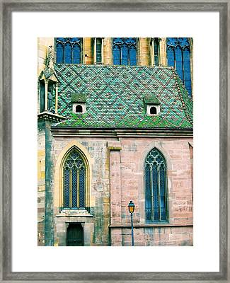 Humbled Street Lantern Framed Print by Maria Huntley