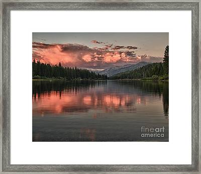 Hume Lake Sunset Framed Print by Terry Garvin