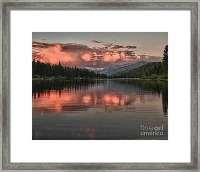 Hume Lake Sunset Framed Print
