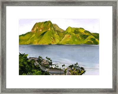Humid Day In Pago Pago Framed Print by Douglas Simonson