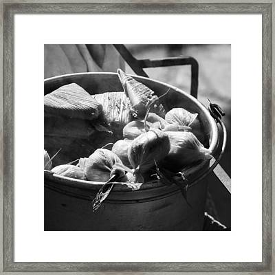 Humitas Bolivia Bnw Square Framed Print by For Ninety One Days