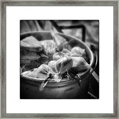 Humitas Bolivia Bnw Square Select Focus Framed Print by For Ninety One Days