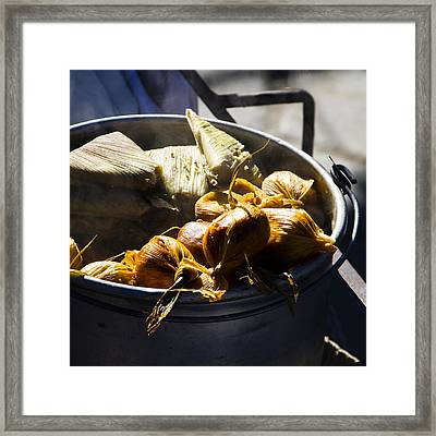 Humitas Bolivia Square Framed Print by For Ninety One Days