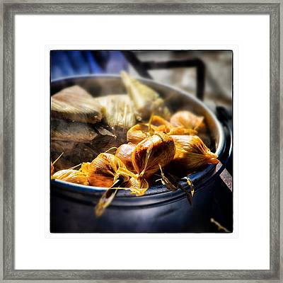 Humitas Bolivia Square Select Focus Framed Print by For Ninety One Days