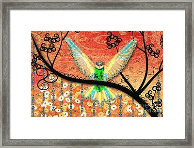 Framed Print featuring the digital art Hummer Love by Kim Prowse