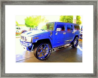 Framed Print featuring the photograph Hummer Too Blue by Don Struke