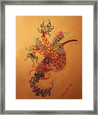 Humming A Little Zen Framed Print