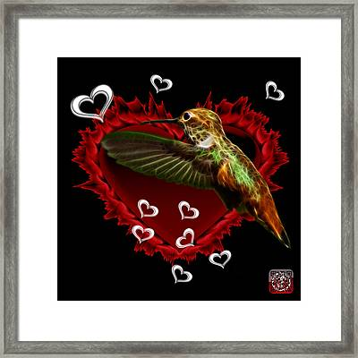 Framed Print featuring the digital art Hummingbird - 2055 F by James Ahn