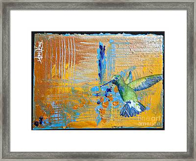 Hummingbird Abstract Framed Print by Tracy L Teeter