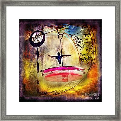 Hummingbird Dance Framed Print by Rhonda Strickland