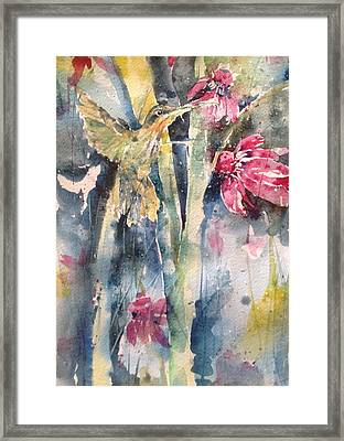 Hummingbird Don't Fly Away ...fly Away Framed Print by Robin Miller-Bookhout