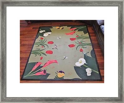 Hummingbird Garden Framed Print by Cindy Micklos