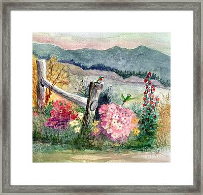 Hummingbird Haven Framed Print