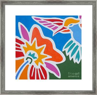 Hummingbird Number One Framed Print by Stephen Davis