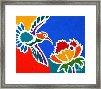 Hummingbird Number Two Framed Print by Stephen Davis