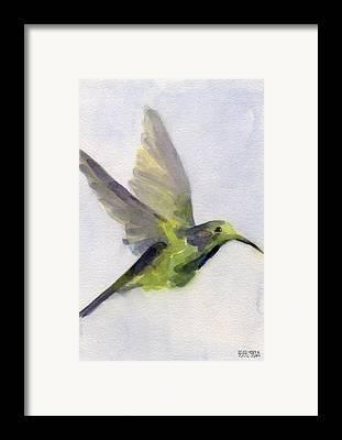 Bird Bath Framed Prints