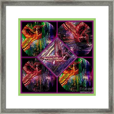Hummingbirds Far Out And Groovy Man Framed Print by Kimberlee Baxter