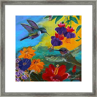 Hummingbirds Prayer Warriors Framed Print