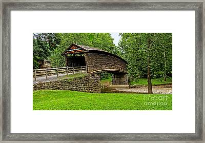Framed Print featuring the photograph Humpback Bridge by Brenda Bostic