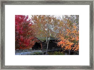 Framed Print featuring the photograph Humpback Bridge by Cathy Shiflett