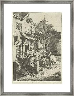 Humpback Fiddler For An Inn, Adriaen Van Ostade Framed Print by Adriaen Van Ostade