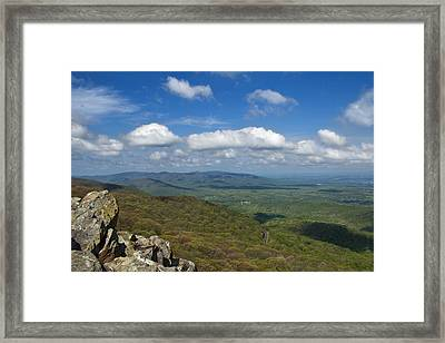 Humpback Rocks View South Framed Print