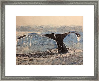 Framed Print featuring the painting Humpback by Stan Tenney