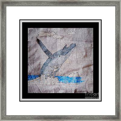 Humpback Whale Framed Print by Barbara Griffin