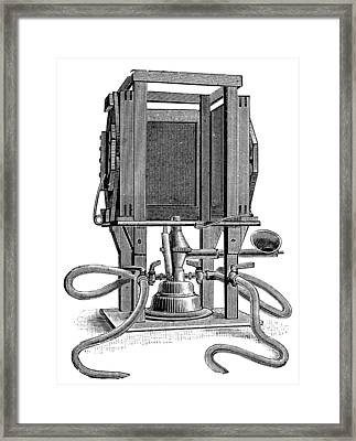 Humphery Gas Lamp, 1893 Framed Print by Science Photo Library