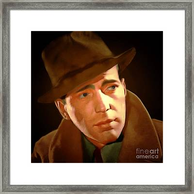 Humphrey Bogart 20150307 Square Framed Print by Wingsdomain Art and Photography
