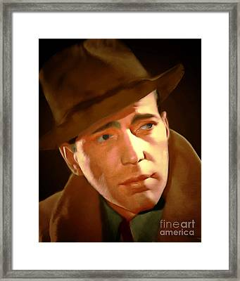 Humphrey Bogart 20150307 Framed Print by Wingsdomain Art and Photography