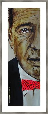 Framed Print featuring the painting Humphrey Bogart #3 by Eric Dee