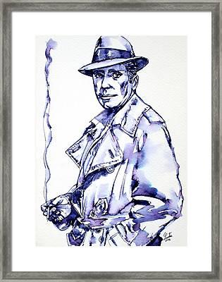Humphrey Bogart  Framed Print by Fabrizio Cassetta