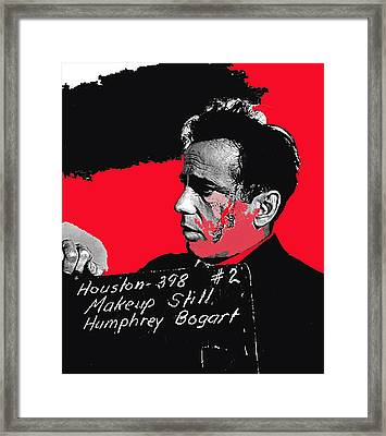 Humphrey Bogart The Maltese Falcon Makeup Photo Framed Print by David Lee Guss