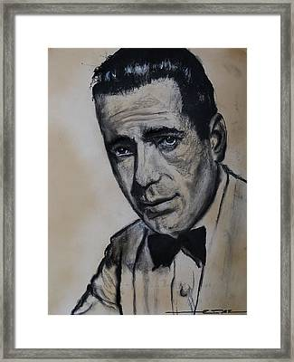 Framed Print featuring the drawing Humphrey Deforest Bogart -1  by Eric Dee