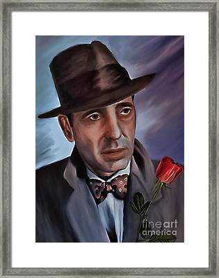 Humphrey Deforest Bogart Framed Print by Andrzej Szczerski