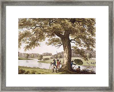 Humphrey Repton Surveying Framed Print by Humphry Repton