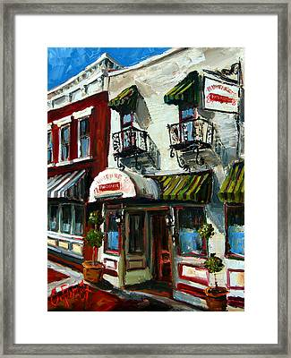 Humphreys Bar And Grill Framed Print by Carole Foret