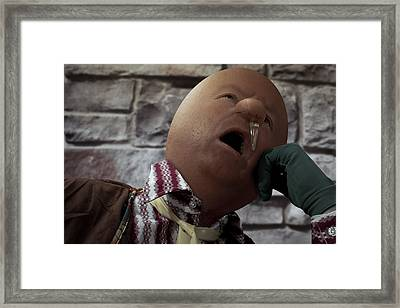 Humpty Dumpty Had A Great Cold Framed Print by Randy Turnbow