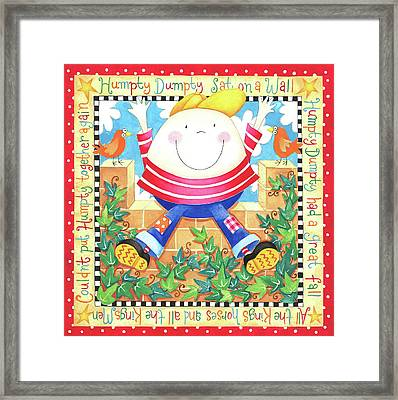 Humpty Dumpty Framed Print by P.s. Art Studios
