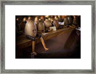 Humpty School Framed Print by Dave Garner