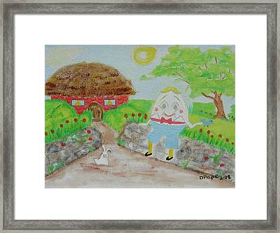 Humpty's House Framed Print by Diane Pape